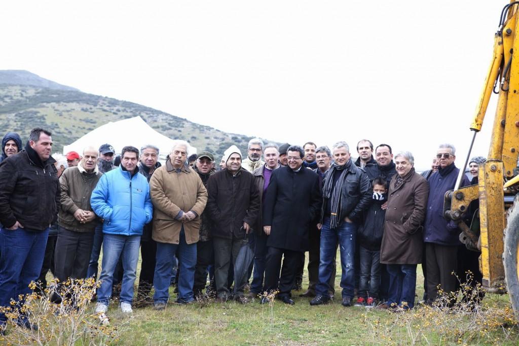 Παρουσία πλήθος φίλων της σκοποβολής, αλλά και επισήμων, η εκδήλωση για την έναρξη των εργασιών κατασκευής του Σκοπευτηρίου