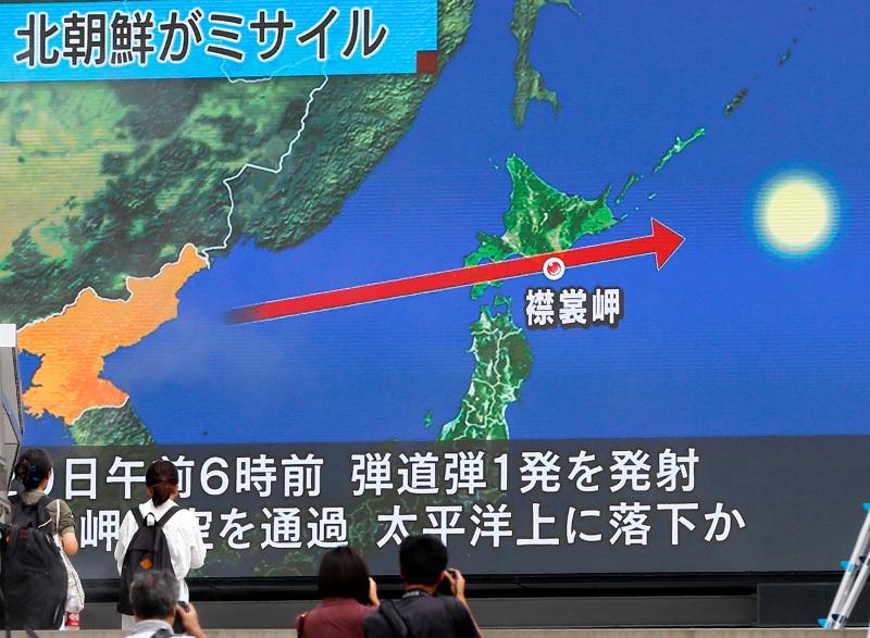 Η Βόρεια Κορέα εκτόξευσε έναν πύραυλο από χώρο κοντά στην πρωτεύουσά της  Πιονγκγιάνγκ ο οποίος πέρασε πάνω από τη βόρεια Ιαπωνία 6e03cd278ba